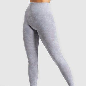 Gymshark Camo Seamless Leggings in Lilac